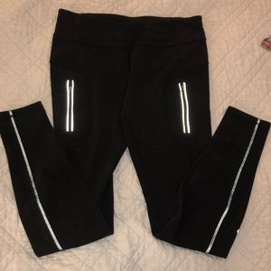 lululemon reflective running tights.